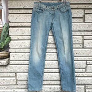 Ann Taylor LOFT modern slim jeans in light indigo